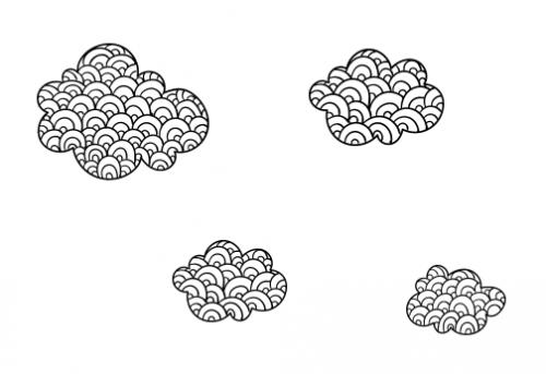 עננים מצויירים