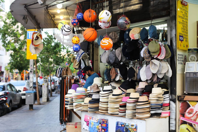 חנות כובעים ברחוב שינקין בתל אביב