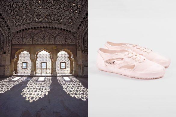 נעלי F-TROUPE והאלמנט האדריכלי משרביה