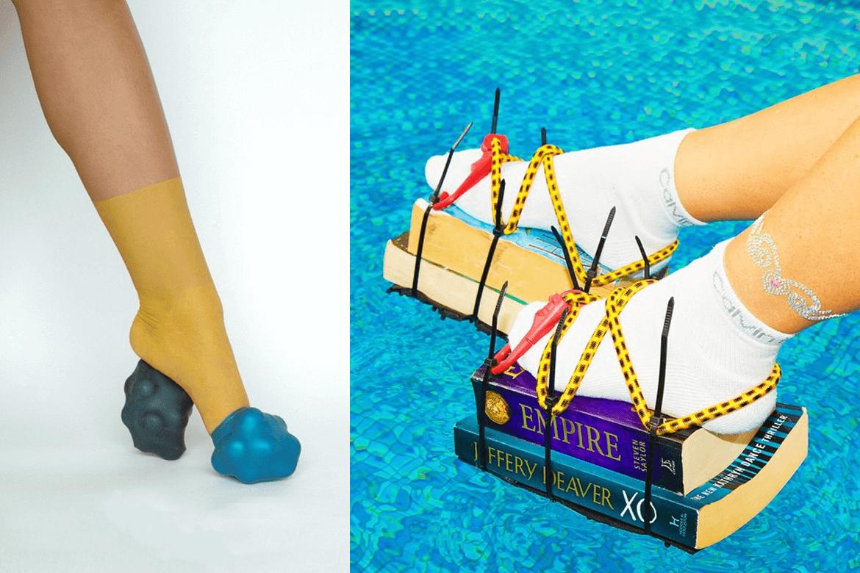 נעליים בלתי אפשריות אבל יצירתיות