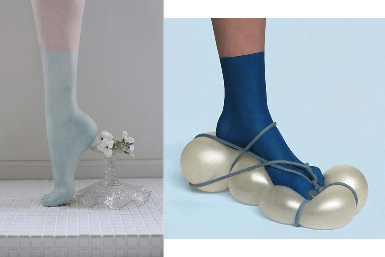 נעל בלונים ונעל קערת הגשה מוגבההת