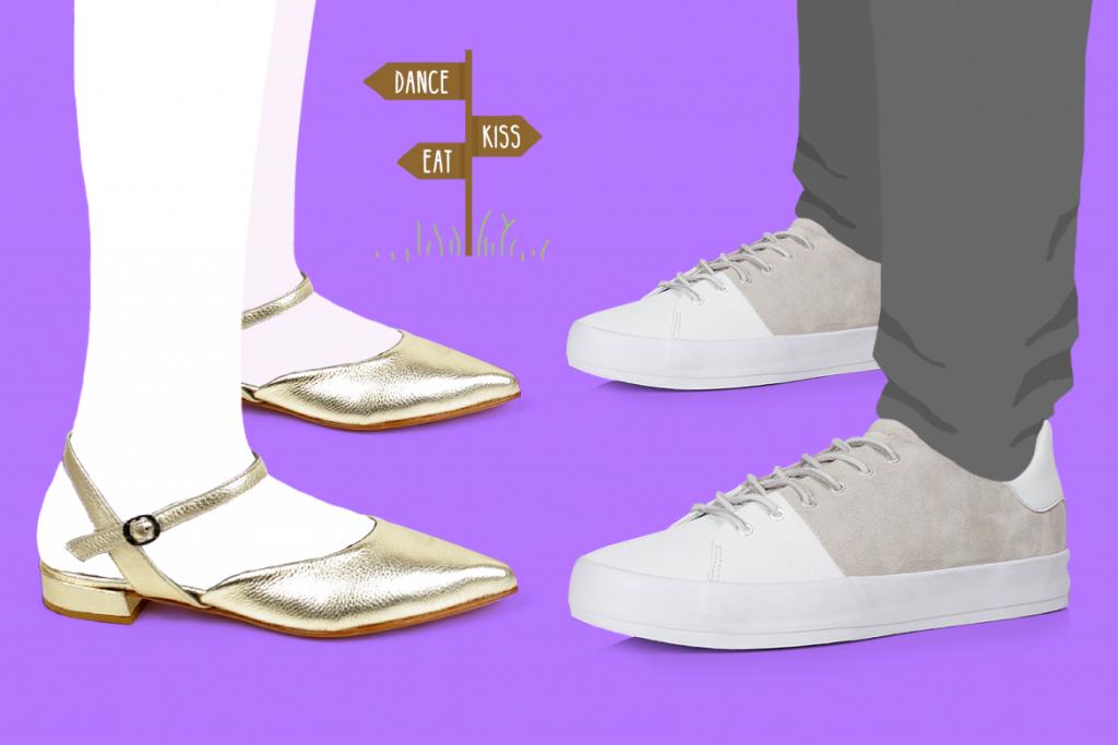 סניקרס לגברים של Creative ונעליים שטוחות של Lilimill