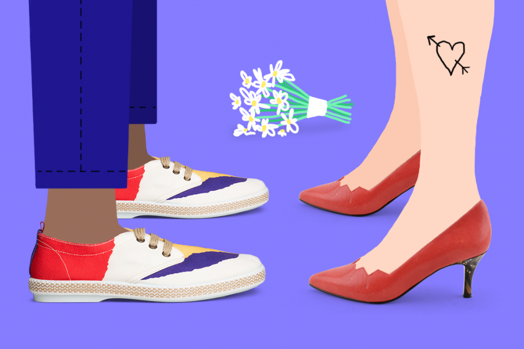 נעלי עקב של Shoemaker וסניקרס צבעוניות של Arrels