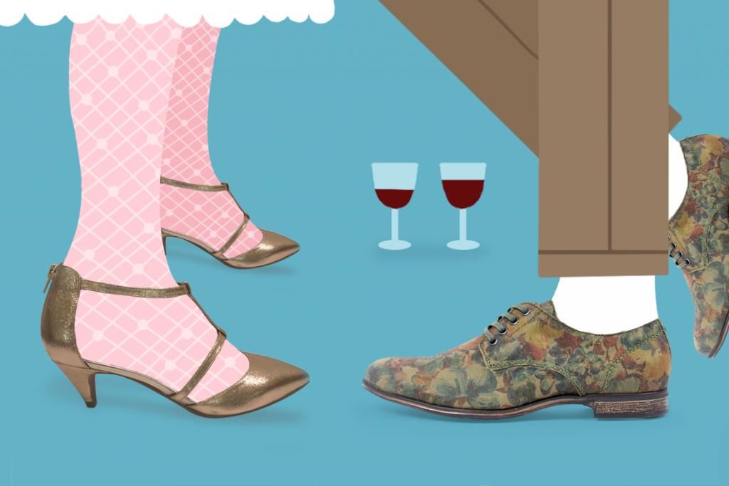 נעלי גברים של Sneaky Steve ונעלי עקב של Jeffery Campbell