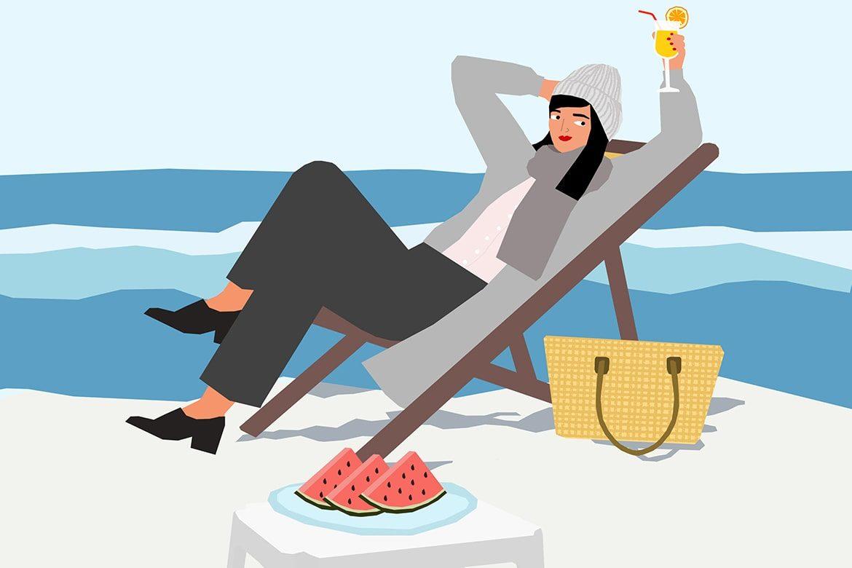 איור של יהלי זיו בנושא קיץ