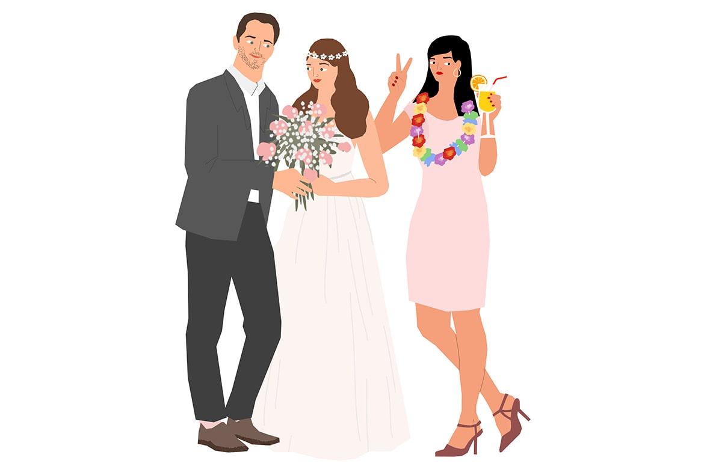איור של יהלי זיו בנושא חתונות