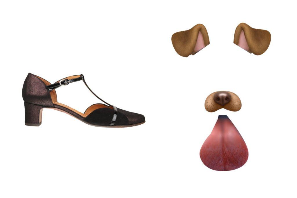 הנעליים של צ'י מיהרה ופילטר פנים